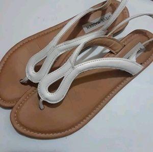 White Steve Madden leather Sandals